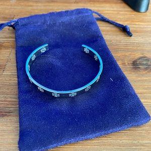 Tory Burch Silver Logo Bracelet